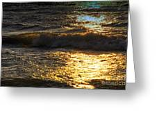 Sundown Shimmer On The Waves Greeting Card