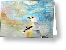 Sundown Snowman Greeting Card