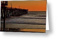 Sundown Surfing Greeting Card