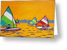 Sunfish Sailboat Race Greeting Card