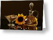 Sunflower And Crystal Greeting Card