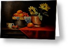 Sunflower And Fruits Greeting Card