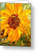 Sunflower Greeting Card by Barbara Pirkle