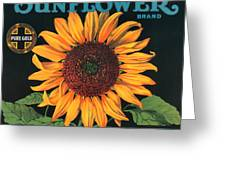 Sunflower Brand Crate Label Greeting Card