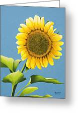 Sunflower Charm Greeting Card