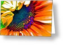 Sunflower Crazed Greeting Card