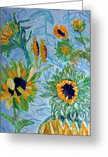 Sunflower Cycle Of Life 1 Greeting Card by Vicky Tarcau