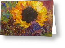 Sunflower Dance Original Painting Impressionist Greeting Card