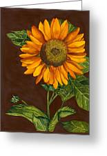 Sunflower Greeting Card by Diane Ferron