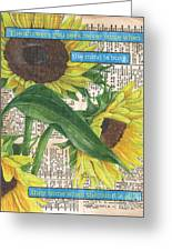Sunflower Dictionary 1 Greeting Card by Debbie DeWitt