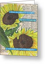 Sunflower Dictionary 2 Greeting Card by Debbie DeWitt
