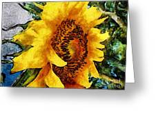 Sunflower Heart Greeting Card
