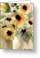Sunflower Impressions Greeting Card