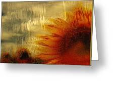 Sunflower In The Rain Greeting Card