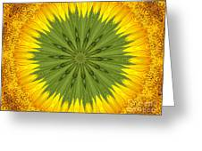 Sunflower Kaleidoscope 3 Greeting Card