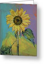 Sunflower Greeting Card by Michael Creese