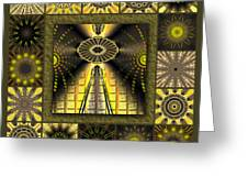 Sunflower Moon Redux Greeting Card