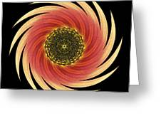 Sunflower Moulin Rouge Vii Flower Mandala Greeting Card