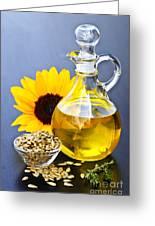 Sunflower Oil Bottle Greeting Card