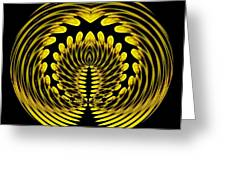 Sunflower Polar Coordinate Effect 1 Greeting Card