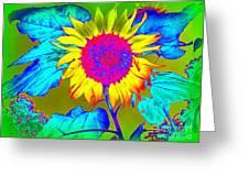 Sunflower Pop Greeting Card