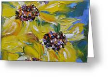 Sunflower Quartet Greeting Card