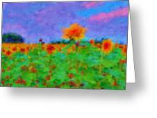 Sunflower Rhapsody Greeting Card
