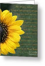Sunflower Scripture Greeting Card