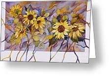 Sunflower Stems Greeting Card