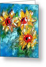 Sunflower Study Painting Greeting Card