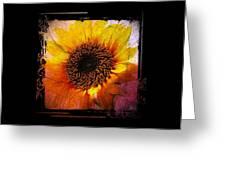 Sunflower Sunset - Art Nouveau  Greeting Card