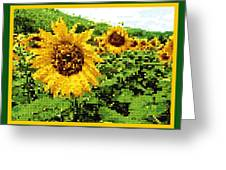 Sunflower Tapestry Greeting Card