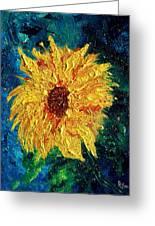 Sunflower - Tribute To Vangogh Greeting Card