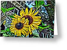 Sunflower Under The Gables Too Greeting Card