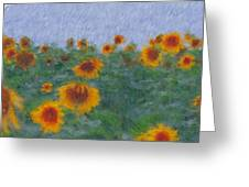 Sunflowerfield Abstract Greeting Card