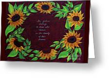 Sunflowers And Dreams Greeting Card