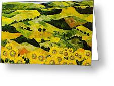 Sunflowers And Sunshine Greeting Card