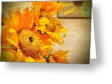 Sunflowers And The Sun Greeting Card