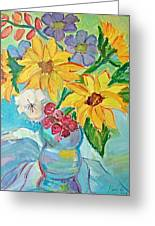 Sunflowers Greeting Card by Brenda Ruark