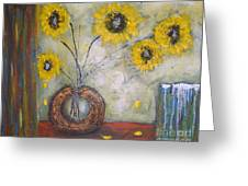 Sunflowers Greeting Card by Elena  Constantinescu