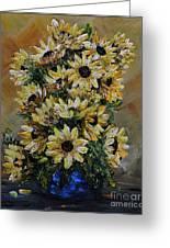 Sunflowers Fantasy Greeting Card