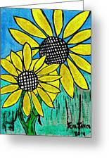 Sunflowers For Fun Greeting Card