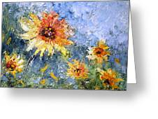 Sunflowers In Bloom Greeting Card