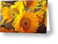 Sunflowers In December Greeting Card