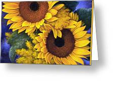 Sunflowers Greeting Card by Mia Tavonatti