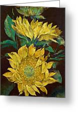 Sunflowers Greeting Card by Michael Creese