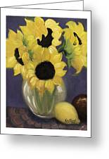 Sunflowers Greeting Card by Nancy Edwards