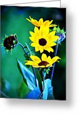 Sunflowers Portrait Greeting Card