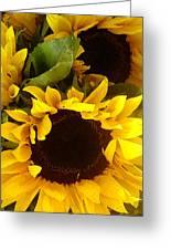 Sunflowers Tall Greeting Card