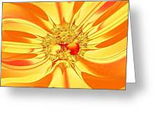 Sunglow Fractal Greeting Card